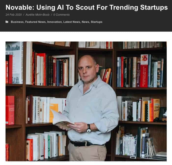 AI to scout for trending startups- Novable